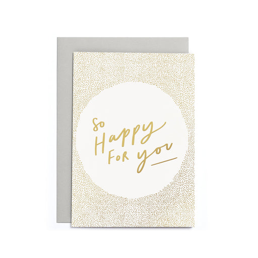 So happy for you quote greeting card