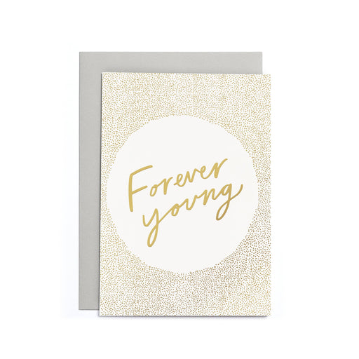 Forever young small greeting card
