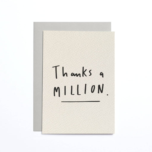 Thanks a Million Cream Small Card