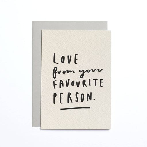 Love From Your Favourite Person Cream Small Card