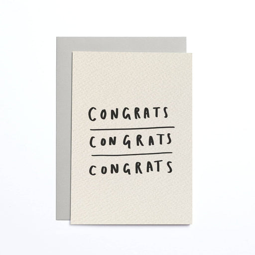 Congrats Cream Small Card