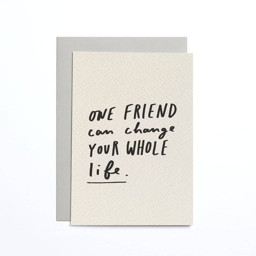 One Friend Cream Small Card