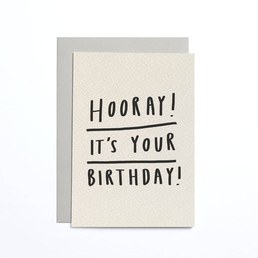 Hooray! It's Your Birthday Cream Small Card