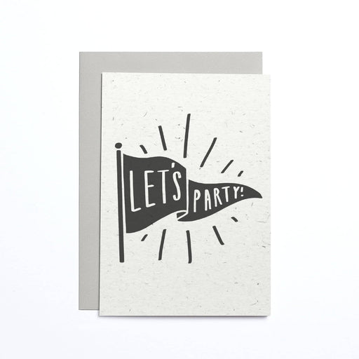 Let's Party Flag Small Card