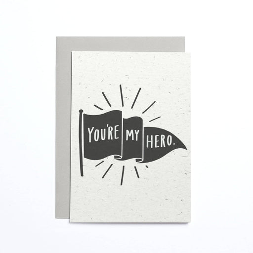 You're My Hero Flag Small Card