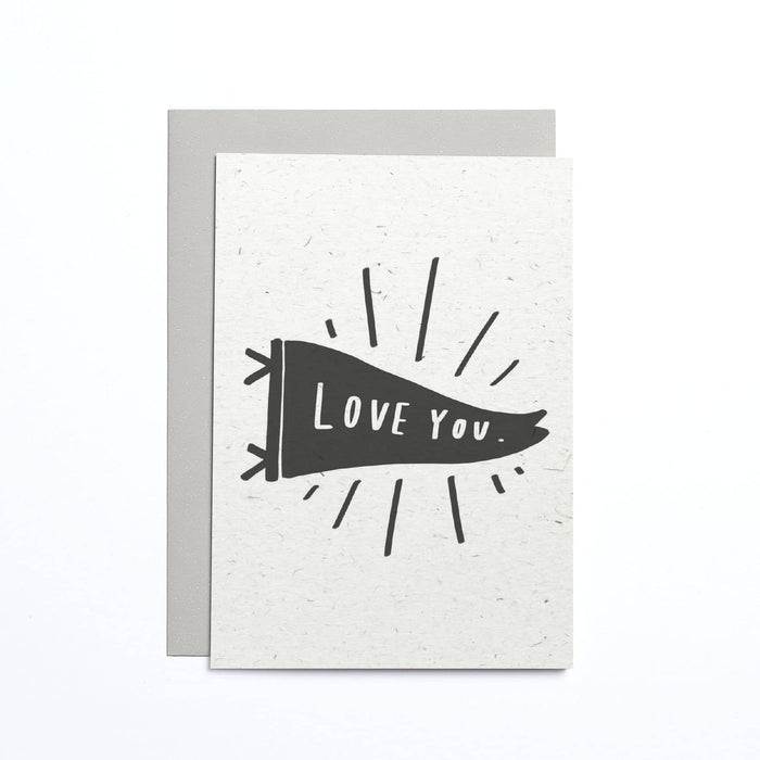 Love You Flag Small Card
