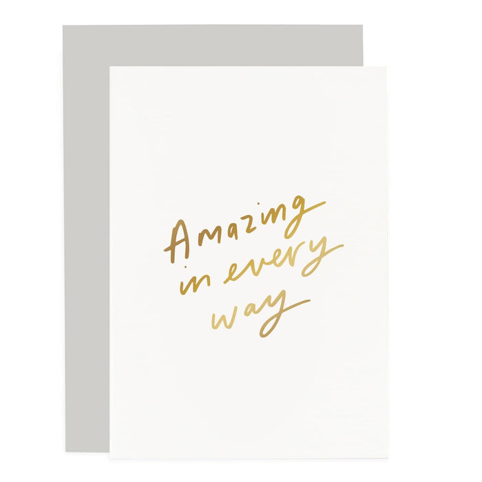 Amazing in every way Sentiments Card