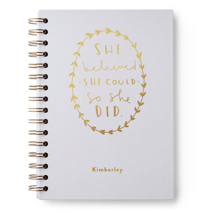 She Believed She Could Hardback Notebook