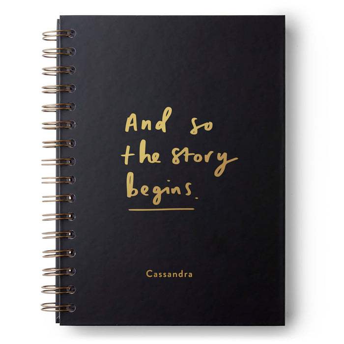 And So Our Story Begins Hardback Notebook