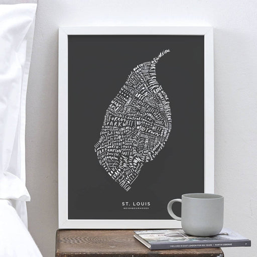 St. Louis city map print