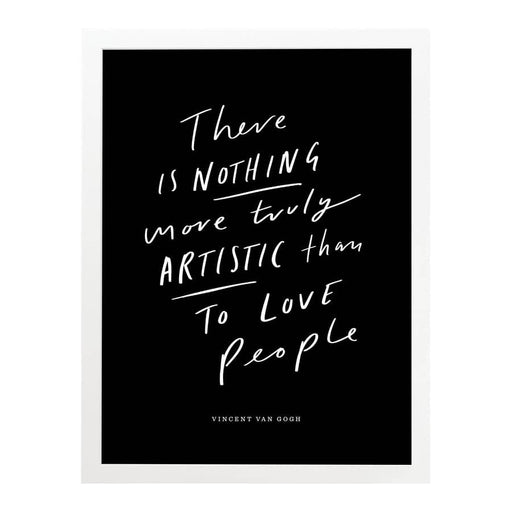 Artistic Love Quote Art Print