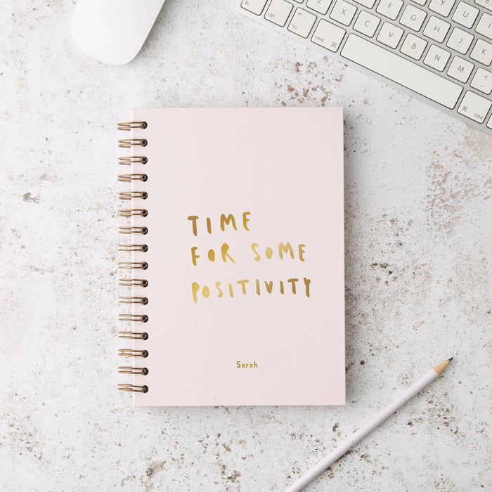 Time For Positivity Hardback Notebook