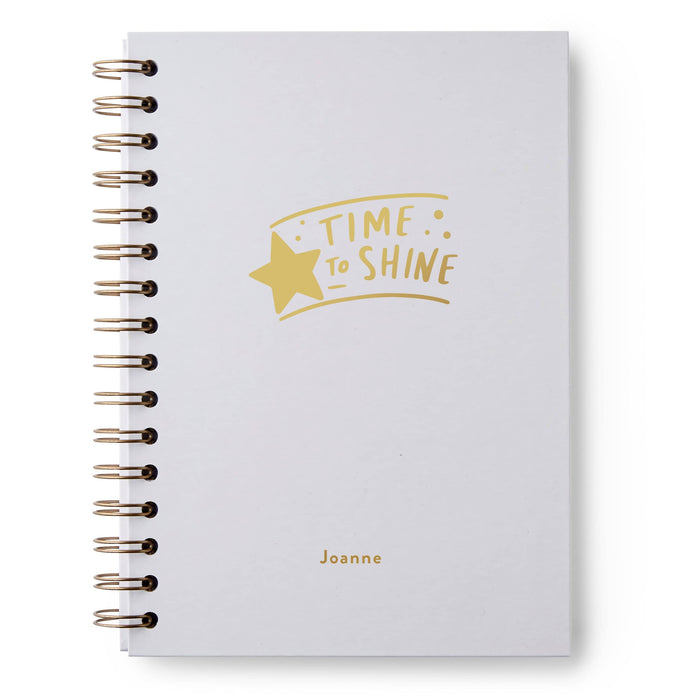 Time To Shine Hardback Notebook