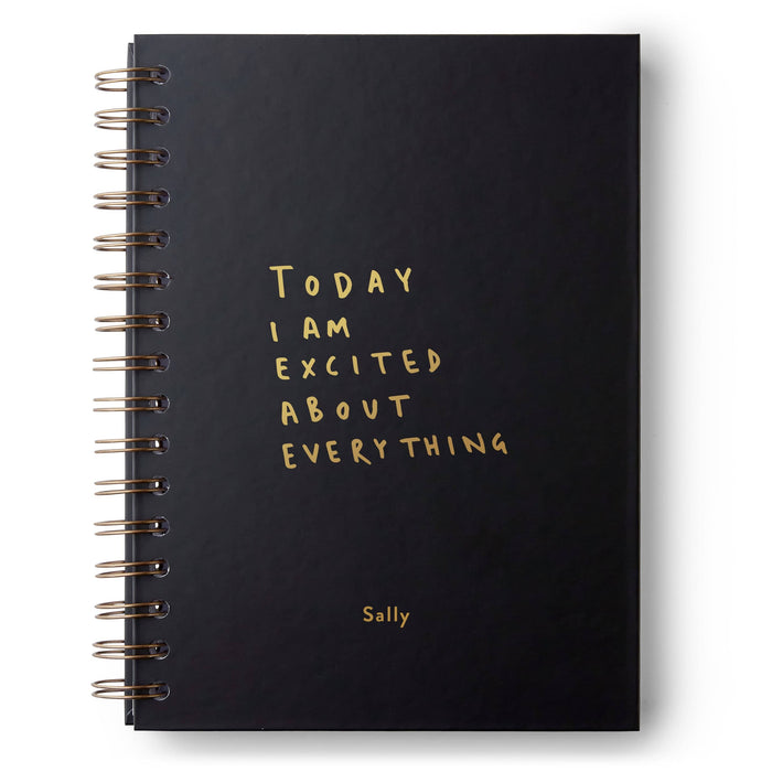 Today I am Excited Hardback Notebook
