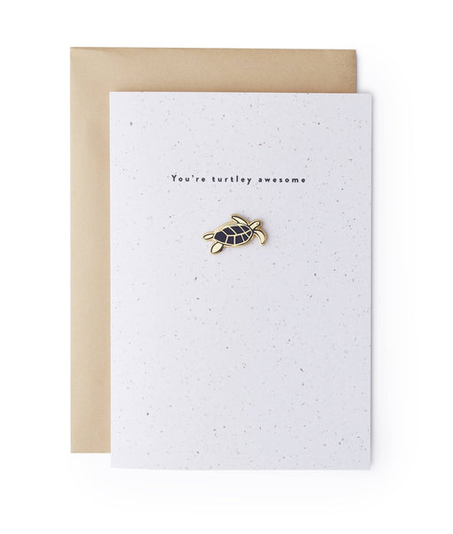 Turtle Enamel Pin Card