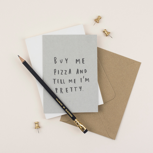 Buy Me Pizza Greeting card
