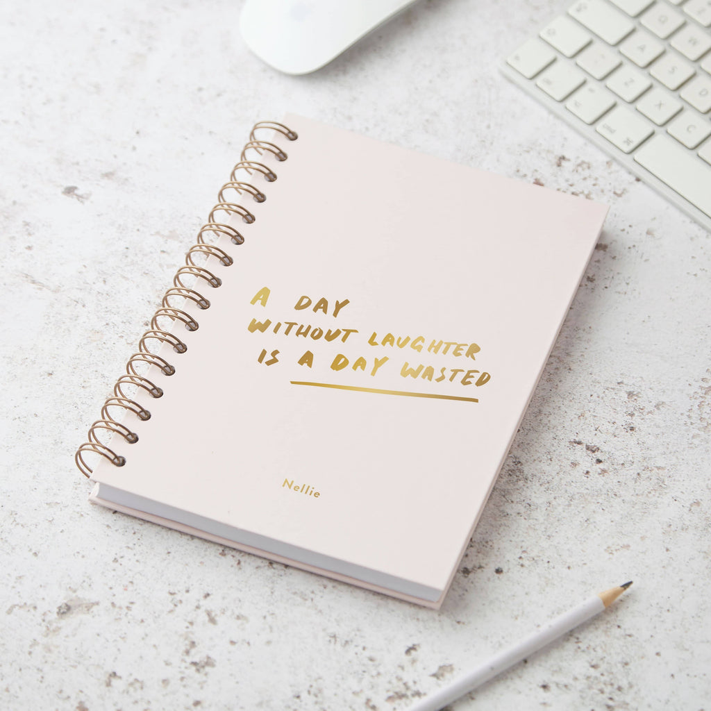 A Day Without Laughther Wiro Personalised. Notebook