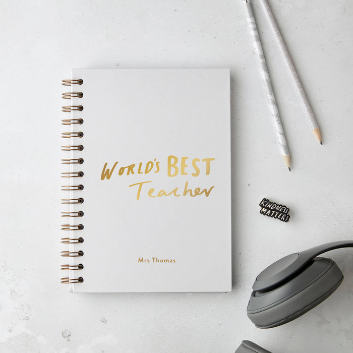World's Best Teacher Hardback Notebook