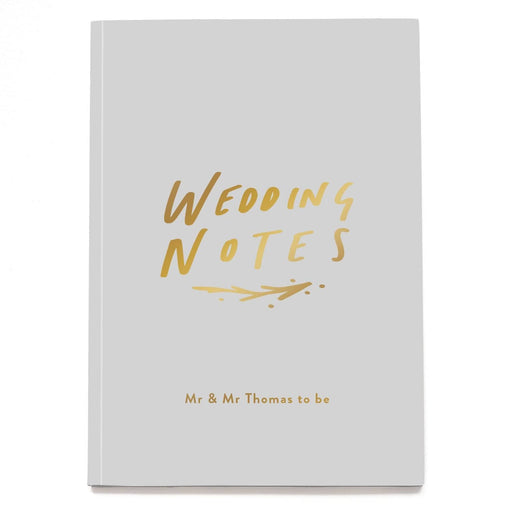 Wedding Notes Personalised Notebook