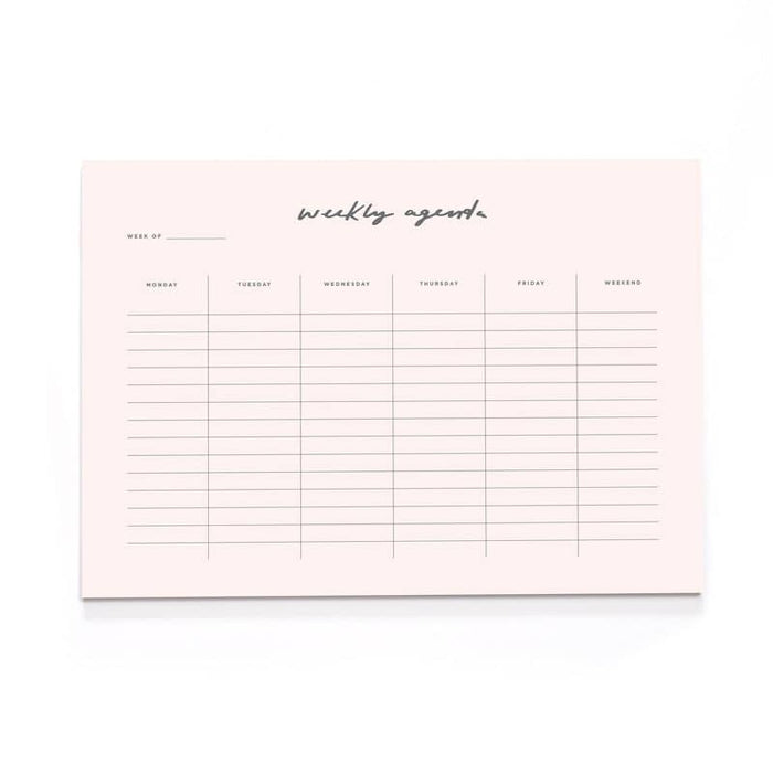 Blush Pink A4 Wall Planner