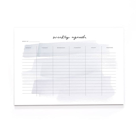 Brush Stroke A4 Wall Planner