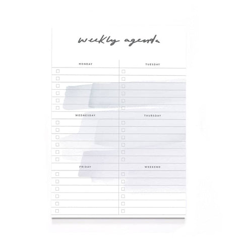 Brush Stroke Weekly Agenda A5 Notepad