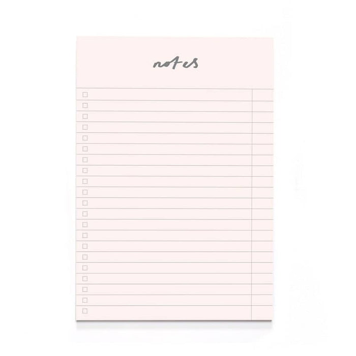 Blush Pink Notes A5 Notepad