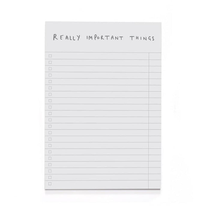 Really Important Things A5 Notepad