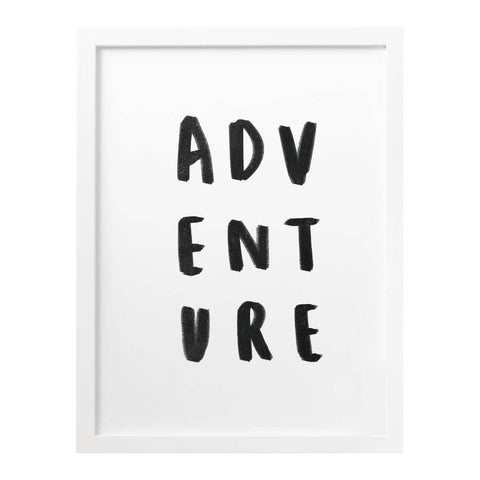 Adventure Typography Print