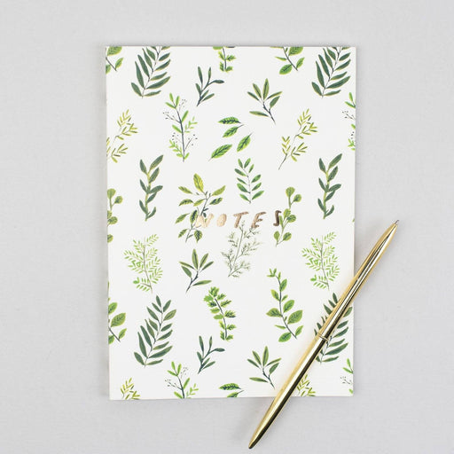 Plants Linen Notebook