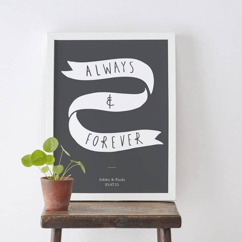 Always and Forever Anniversary Print