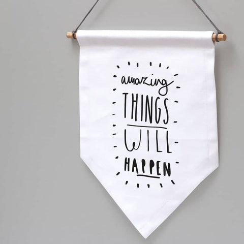 Amazing Things Banner Flag