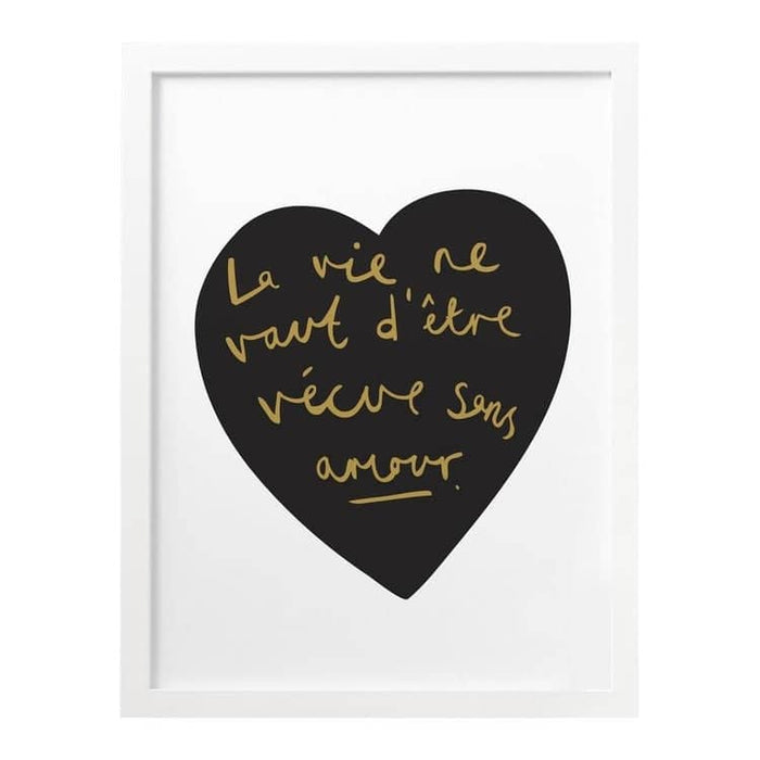 French Amour Heart Print