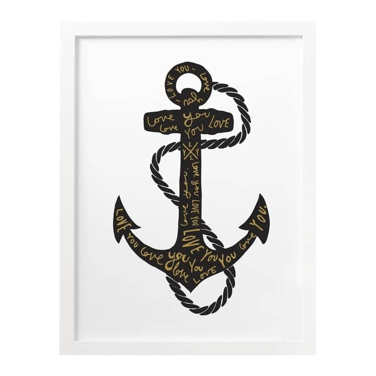 Anchor Love You print
