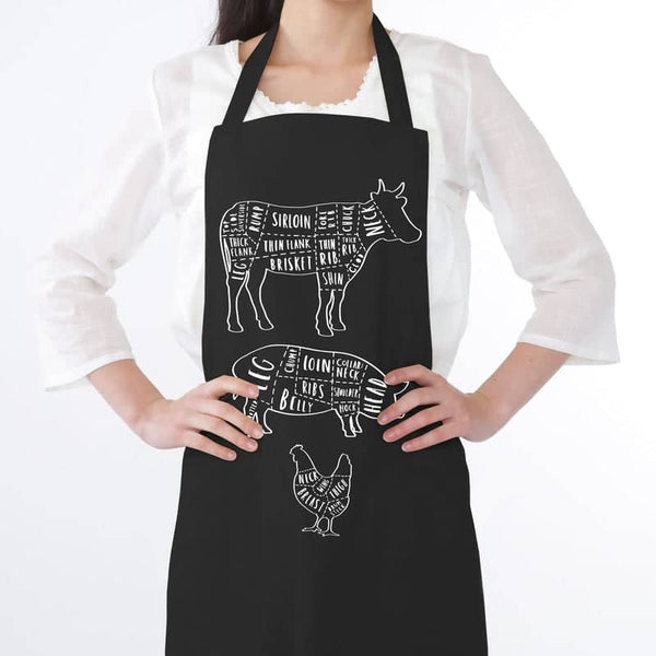 butcher cuts apron