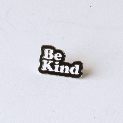 Be Kind Typography Enamel Pin