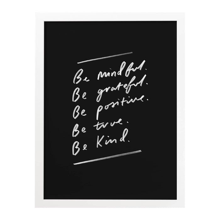be grateful and mindful art print