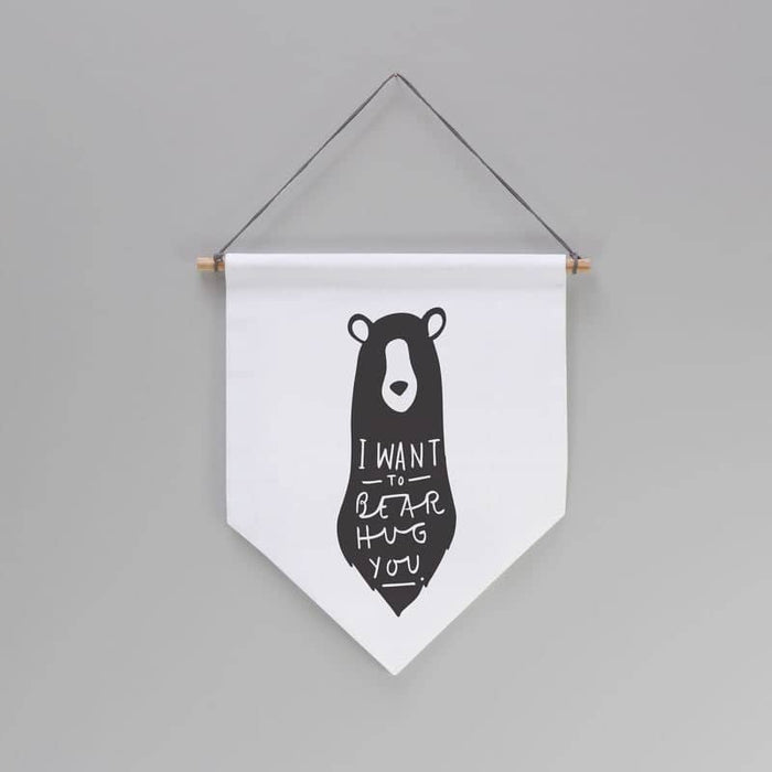 bear hug wall banner flag