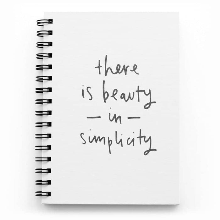 Beauty In Simplicity notebook