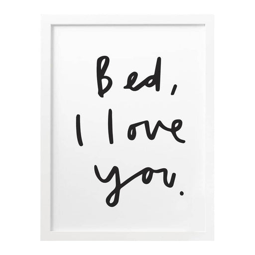bed i love you print