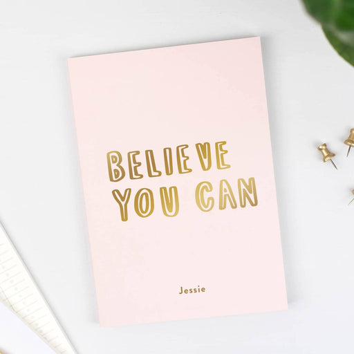 believe you can personalised notebook