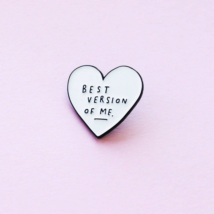 Motivational Enamel Pin Heart