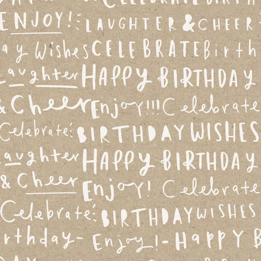 birthday words wrapping paper