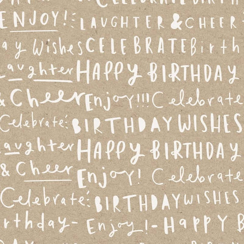 Birthday Typography Wrapping Paper