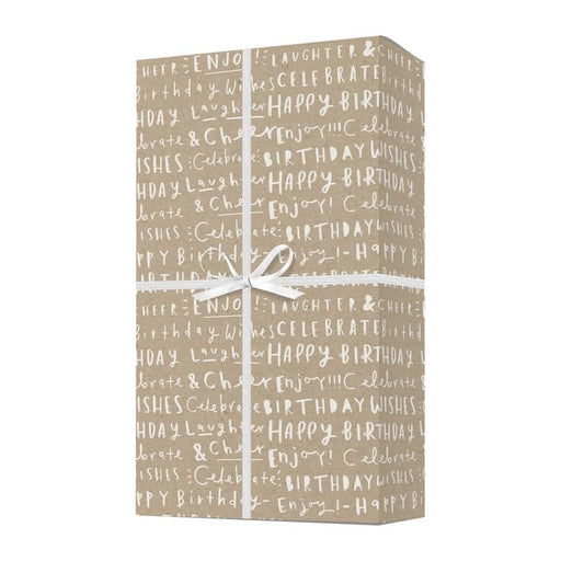 birthday words kraft gift wrap