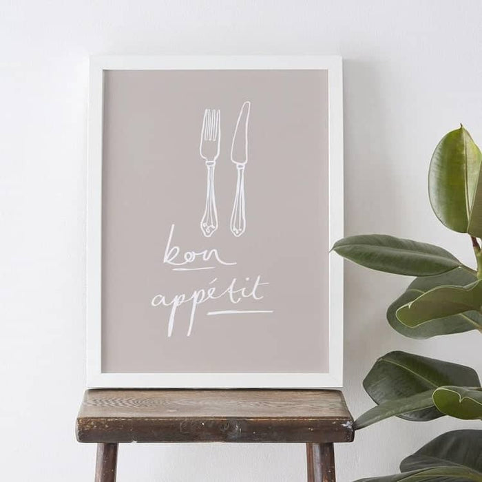 Knife and fork kitchen print