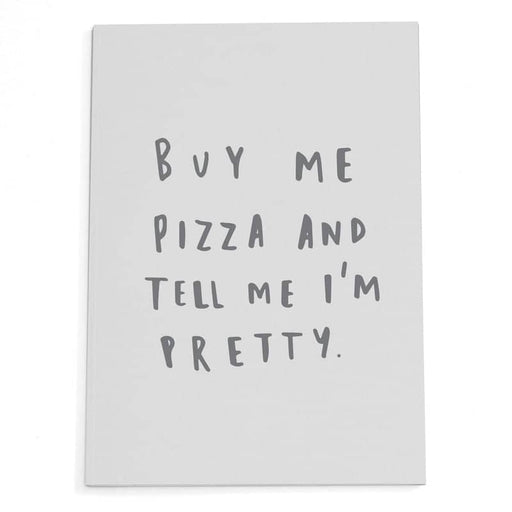 buy me pizza A5 kraft notebook