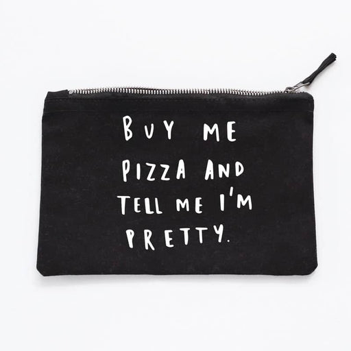 buy me pizza make up pouch