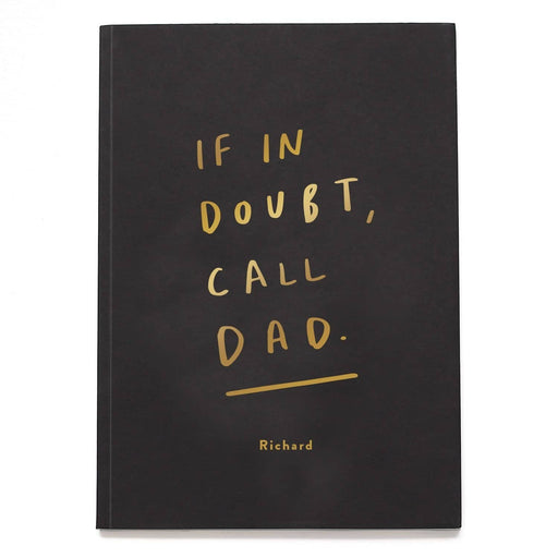 Call Dad Personalised Foil Notebook