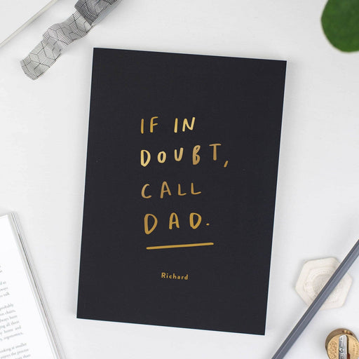 Personalised Dad Notebook